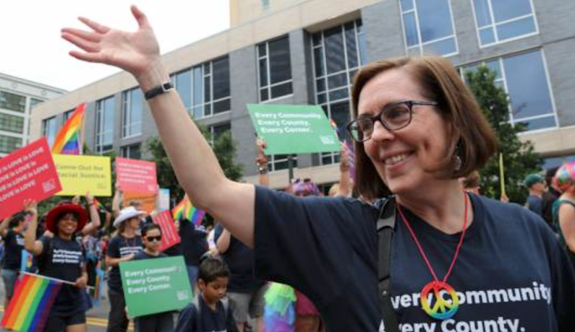 Oops!!!! Oregon's Bisexual Governor Skips Pride Parade, Deceptively Recycles Last Year's Photos