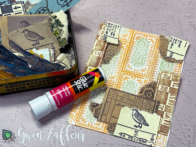 Project #2: Collage with DIY Stickers Tutorial Step 3 - Gwen Lafleur