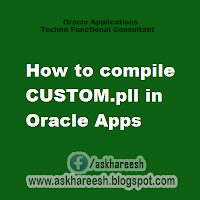 How to compile CUSTOM.pll in Oracle Apps R12, askhareesh blog for Oracle Apps
