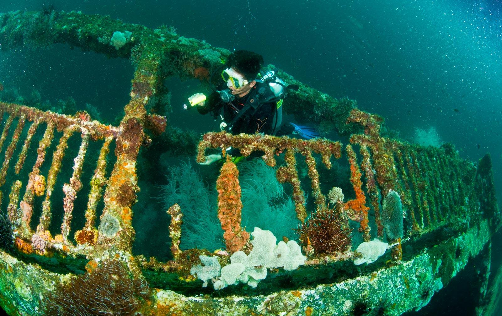 Затонувшие корабли в Палаване