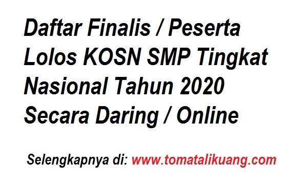 daftar peserta kosn smp tingkat nasional tahun 2020 cabang olahraga karate dan pencak silat secara daring online tomatalikuang.com