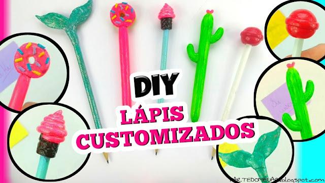 lapis e canetas customizados