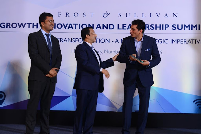Manipal Fertility awarded' FROST AND SULLIVAN'S 2016' India fertility service provider company of the year award