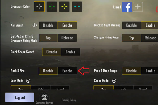 Bagaimana untuk Condongkan watak permainan kanan dan kiri di PUBG Mobile