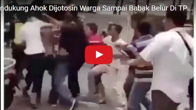 VIDEO: Bikin Onar, Pendukung Ahok Dijotosin Warga Sampai Babak Belur Di TPS 18