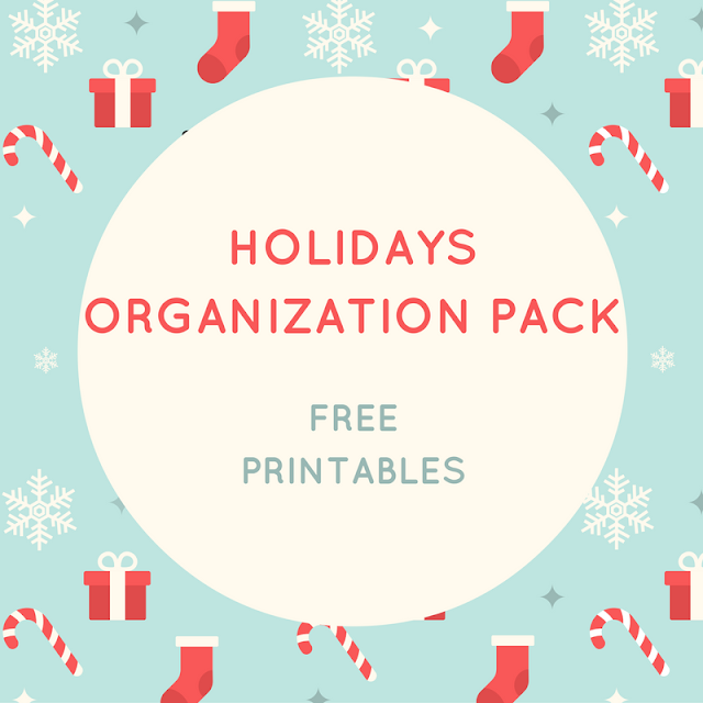 Holidays organization pack - free printables