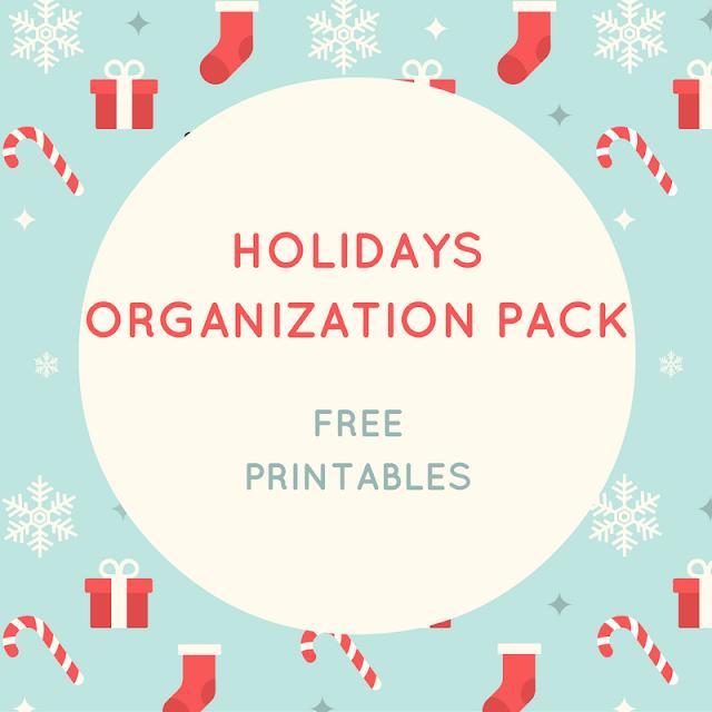 Holidays organization pack - free printables