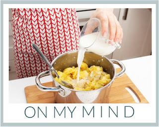 Memories of my dad making mashed potatoes ♥ KitchenParade.com.