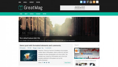 GreatMag Free Blogger Template