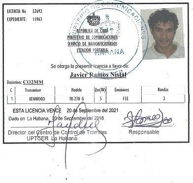 Mia radioamatora licenso (por mia manradio)