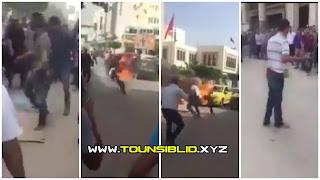 (بالفيديو) سليمان: يحرق نفسه بعد طرده من العمل بالخطأ..