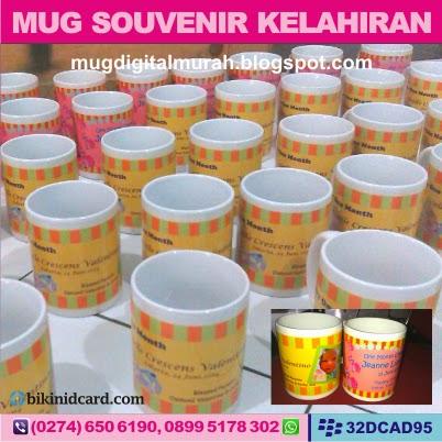 cetak mug souvenir baby born
