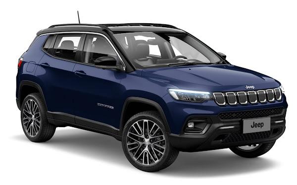 Novo Jeep Compass 2022 TD350 4x4 Diesel: preço parte de R$ 196.990