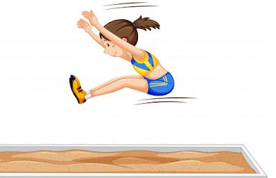 √Teknik Lompat Jauh Gaya Menggantung | Awalan, Tumpuan ...