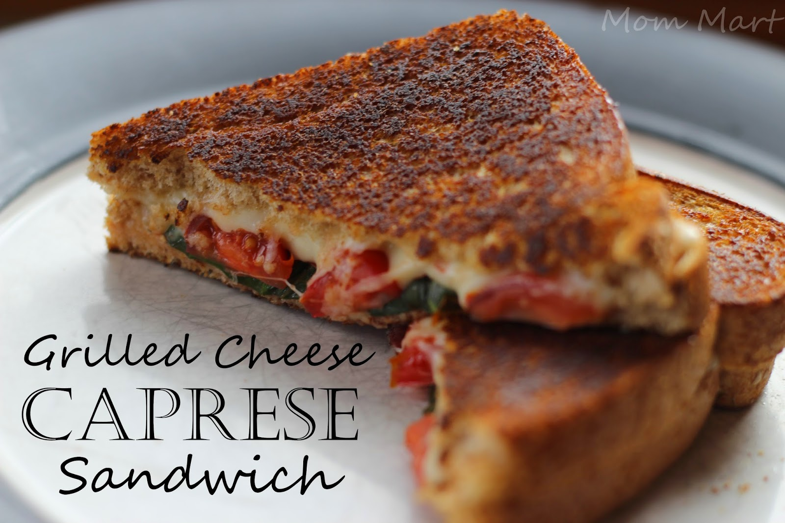 Grilled Cheese Caprese Sandwich #Recipe #ComfortFood #YUM