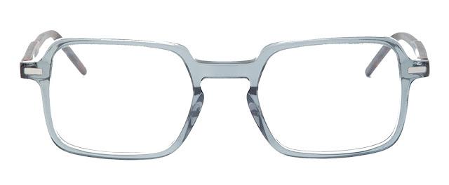 Light Grey Square Shape Acetate Frame - Computer Spex (Zero Power)