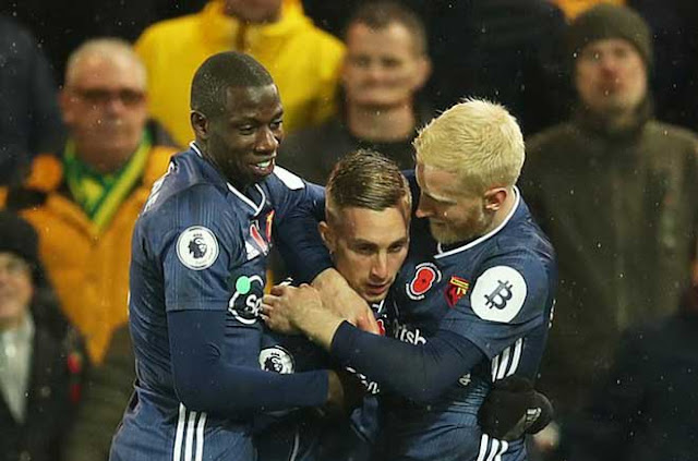 Video Norwich 0-2 Watford: Bước ngoặt solo, vỡ òa chiến thắng đầu tiên (Vòng 12 Ngoại hạng Anh) 1