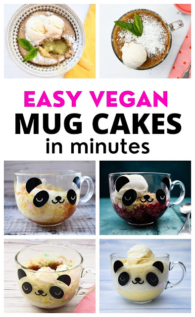 Easy Vegan Mug Cakes Made in Minutes