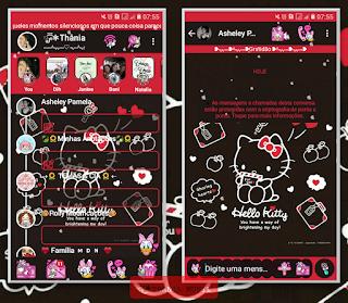 Black Hello Kitty Theme For YOWhatsApp &KM WhatsApp By Thania
