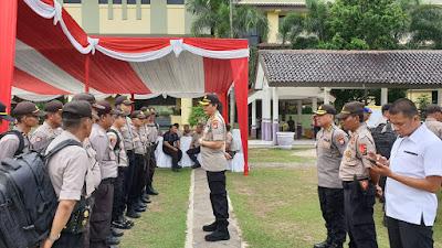 Direskrimum Polda Banten, Pimpin apel Pergeseran Pam TPS wilayah Polsek Kresek