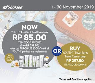 Promosi November 2019 ESP Shaklee, Zinc Plus dan Youth Skincare