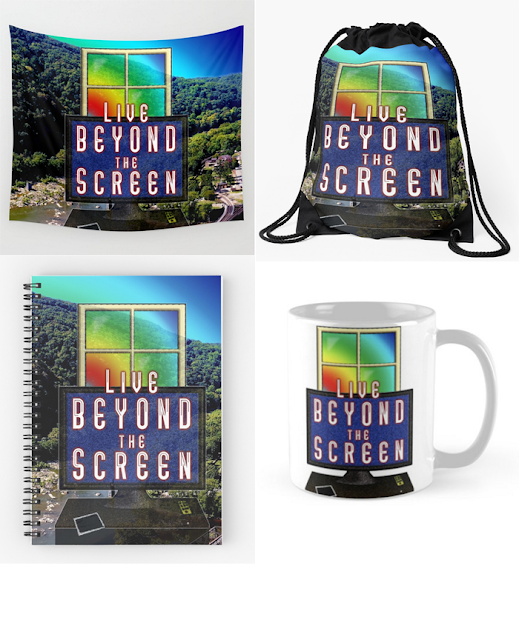 Live Beyond the Screen by Susan Phillips Hicks of Melasdesign