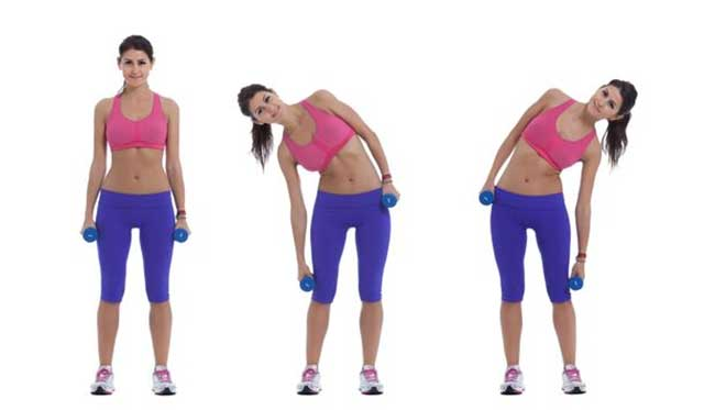 sidebend dumbell exercise