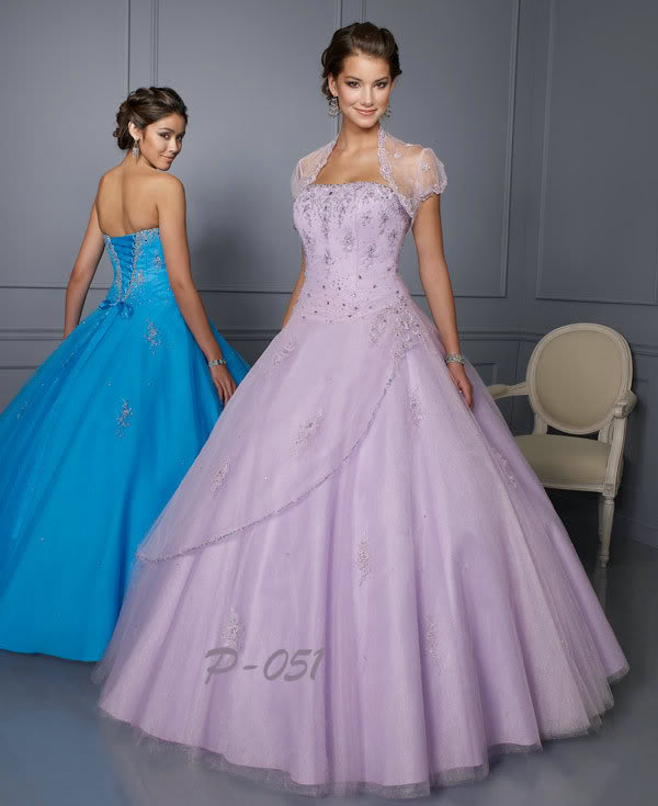 Wedding Lady: Light Purple Brilliant Wedding Dress