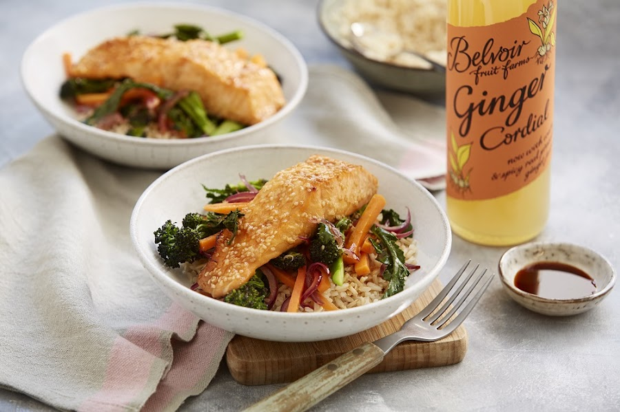 How To Make Salmon with Sticky Ginger Sauce
