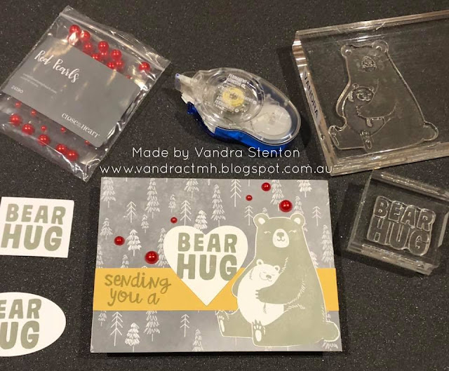 #CTMHVandra, Colour Dare Challenge, color dare, fireworks, hugs, Bear, trees, #ctmhIntotheWild, pearls, cardmaking, hearts, bear hugs,