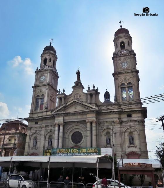 Vista ampla da Paróquia Bom Jesus do Brás - São Paulo