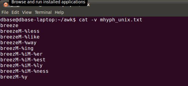 linux cat command