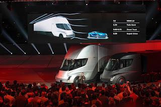 Tesla semi-truck demo (Credit: Tesla) Click to Enlarge.