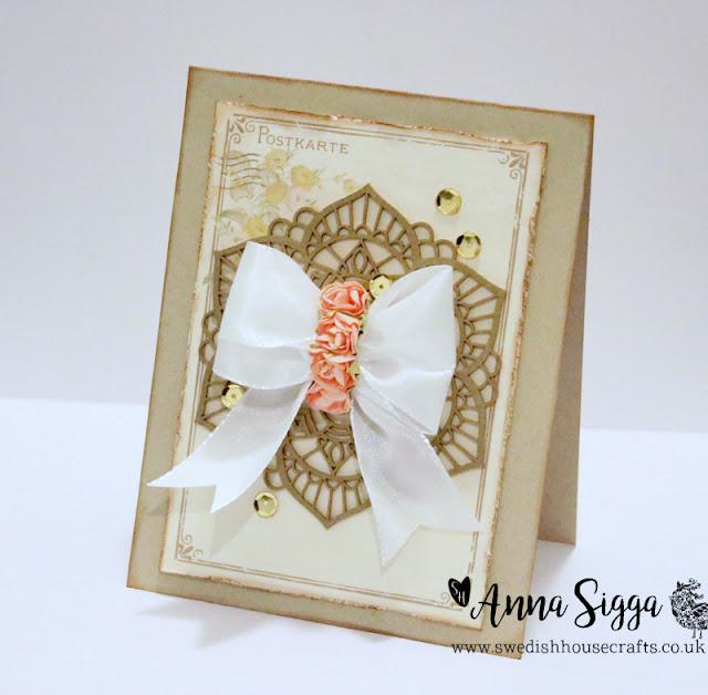 Ribbon Doily Card | By Anna Sigga