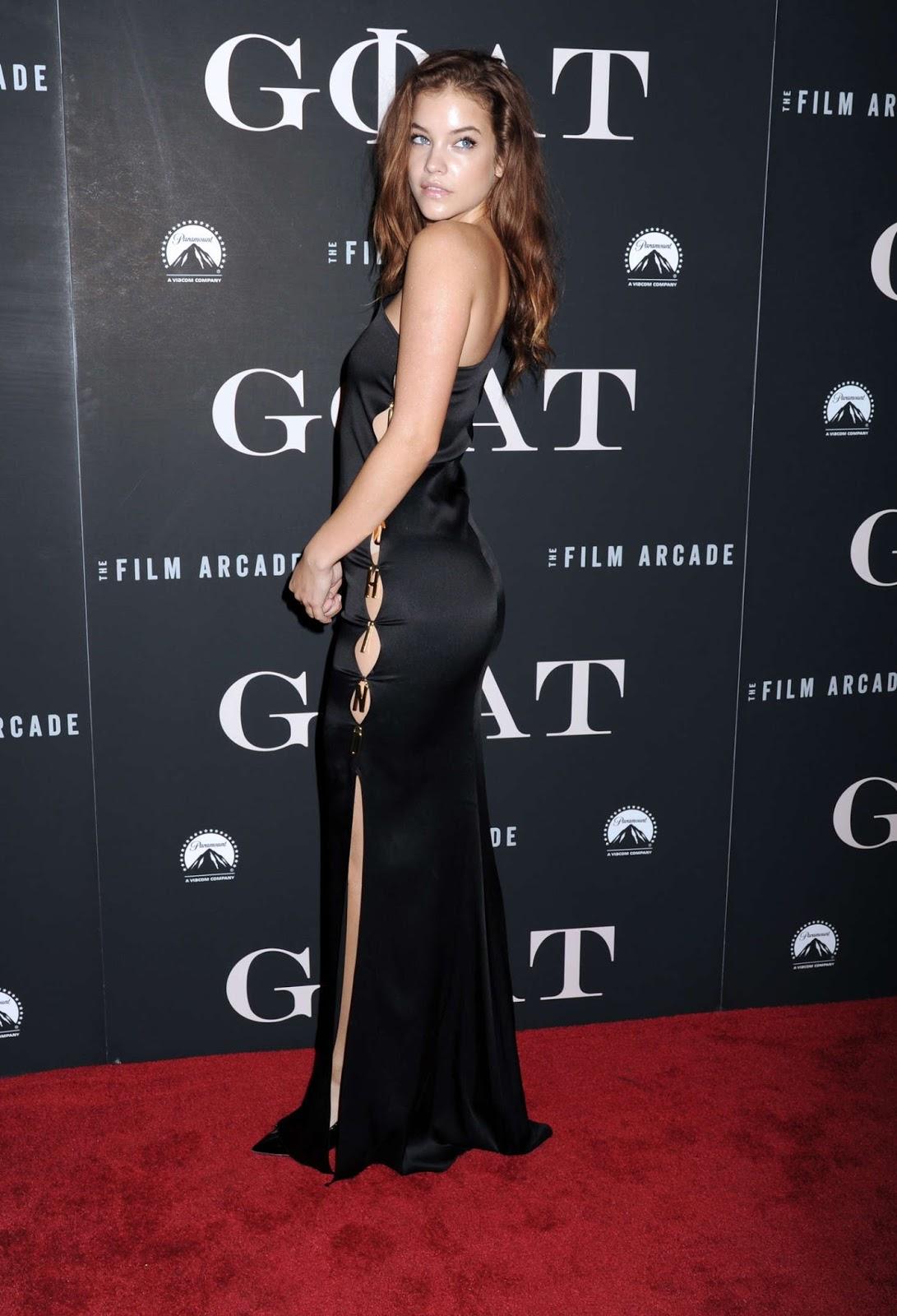 Barbara Palvin Posing at 'Goat' Premiere