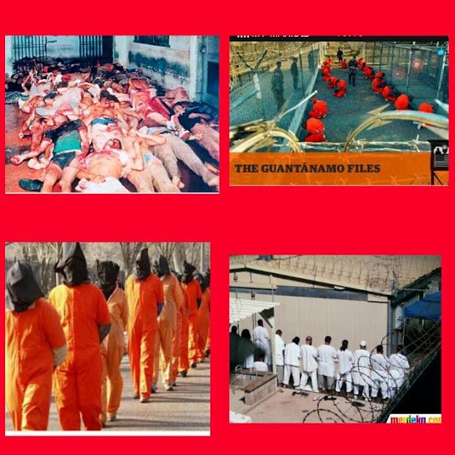 Guantanamo dikatakan penjara paling kejam didunia.Hampir 94% muslim berada dalam penjara itu.
