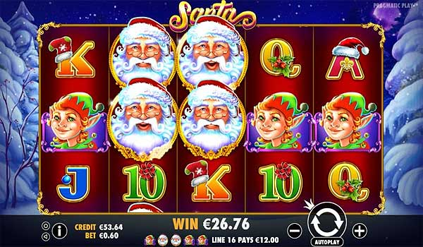 Main Gratis Slot Indonesia - Santa (Pragmatic Play)
