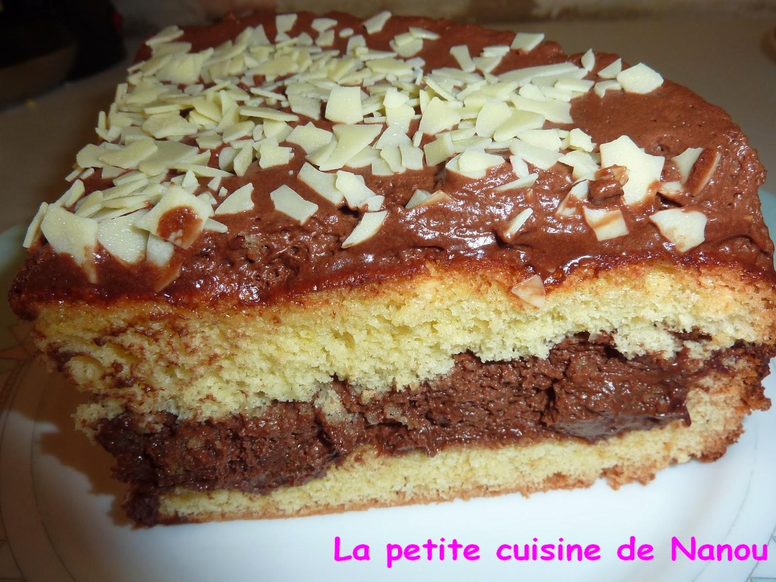 La petite cuisine de nanou g noise fourr e mousse chocolat - Que mettre dans un gateau de couche ...