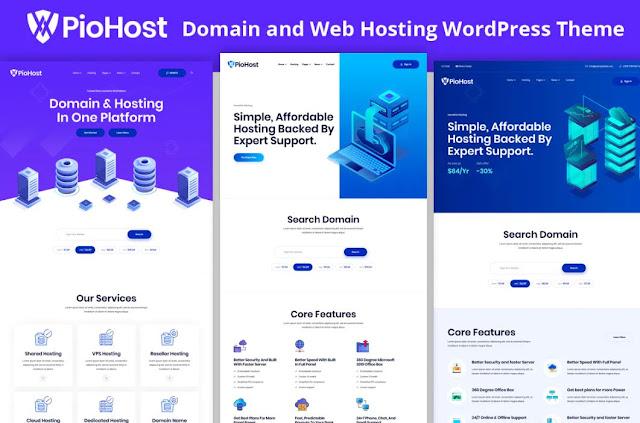 Piohost - Domain Web Hosting Elementor WordPress