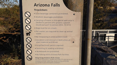 Arizona Falls Regulations (closeup)