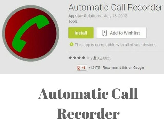 automatic call record