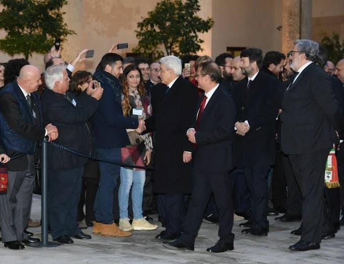 Il Presidente Mattarella in visita all'Università di Lecce
