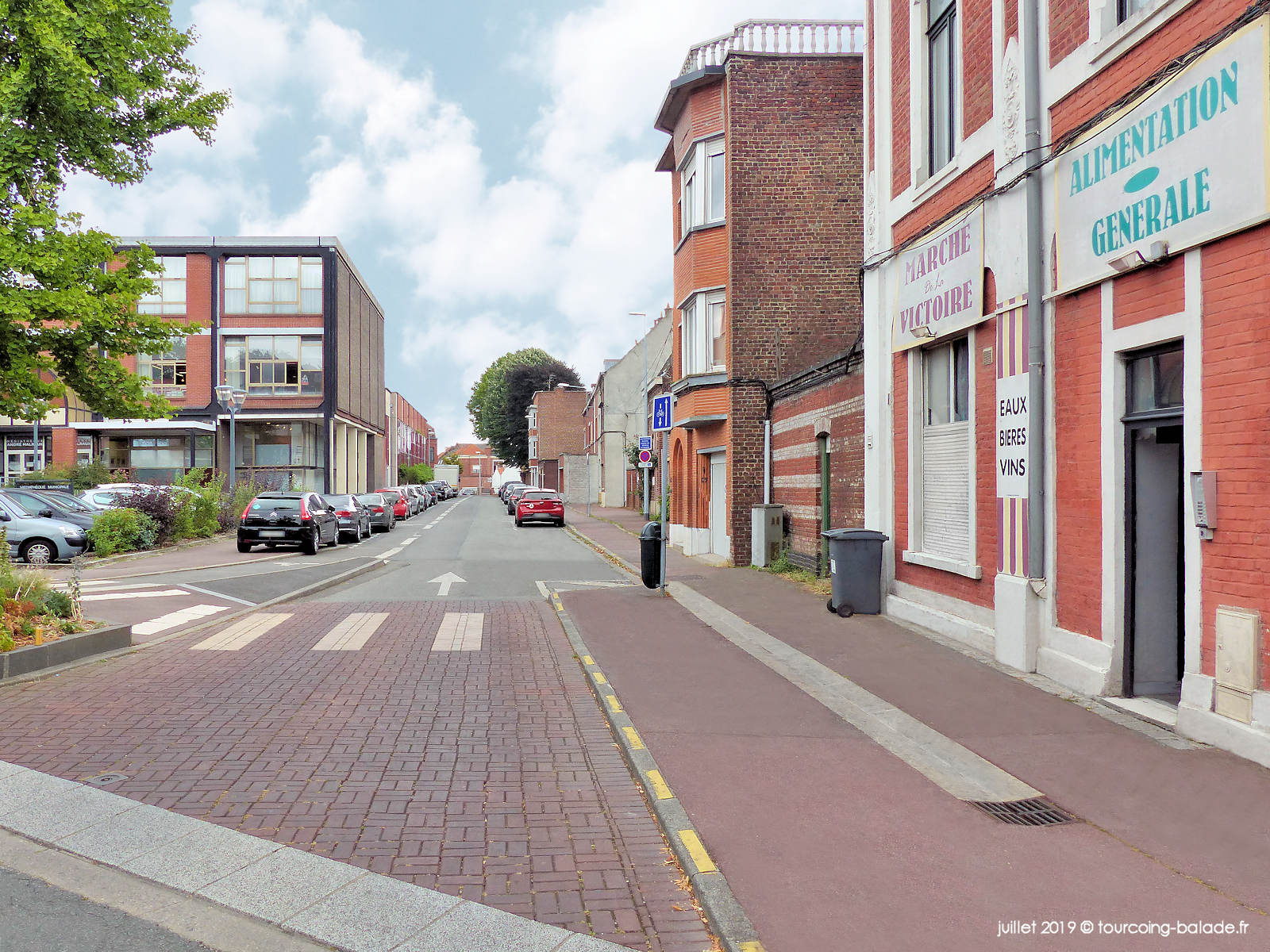 Rue Famelart, Tourcoing - Haut de la rue