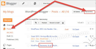 internal linking với Blogger