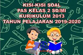 Kisi-kisi Soal PAS/UAS Kelas 2 SD/MI Kurikulum 2013 Tahun 2019-2020