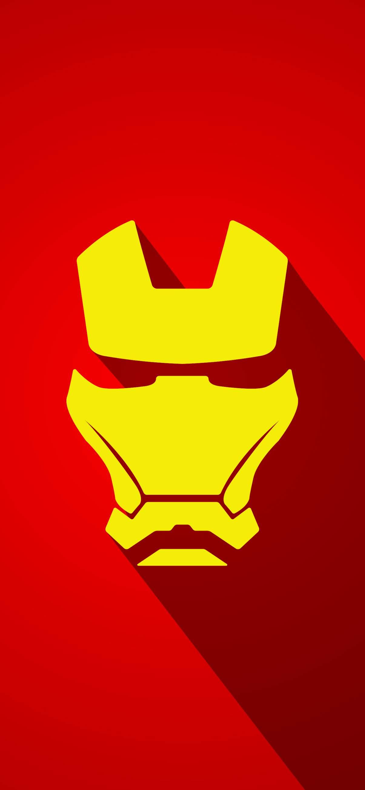 Iron Man mask minimalist mobile wallpaper