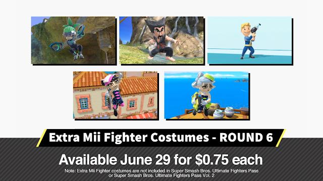 Super Smash Bros. Ultimate Mii Fighter costumes round 6 Ninjara Heihachi Vault Boy Callie Marie