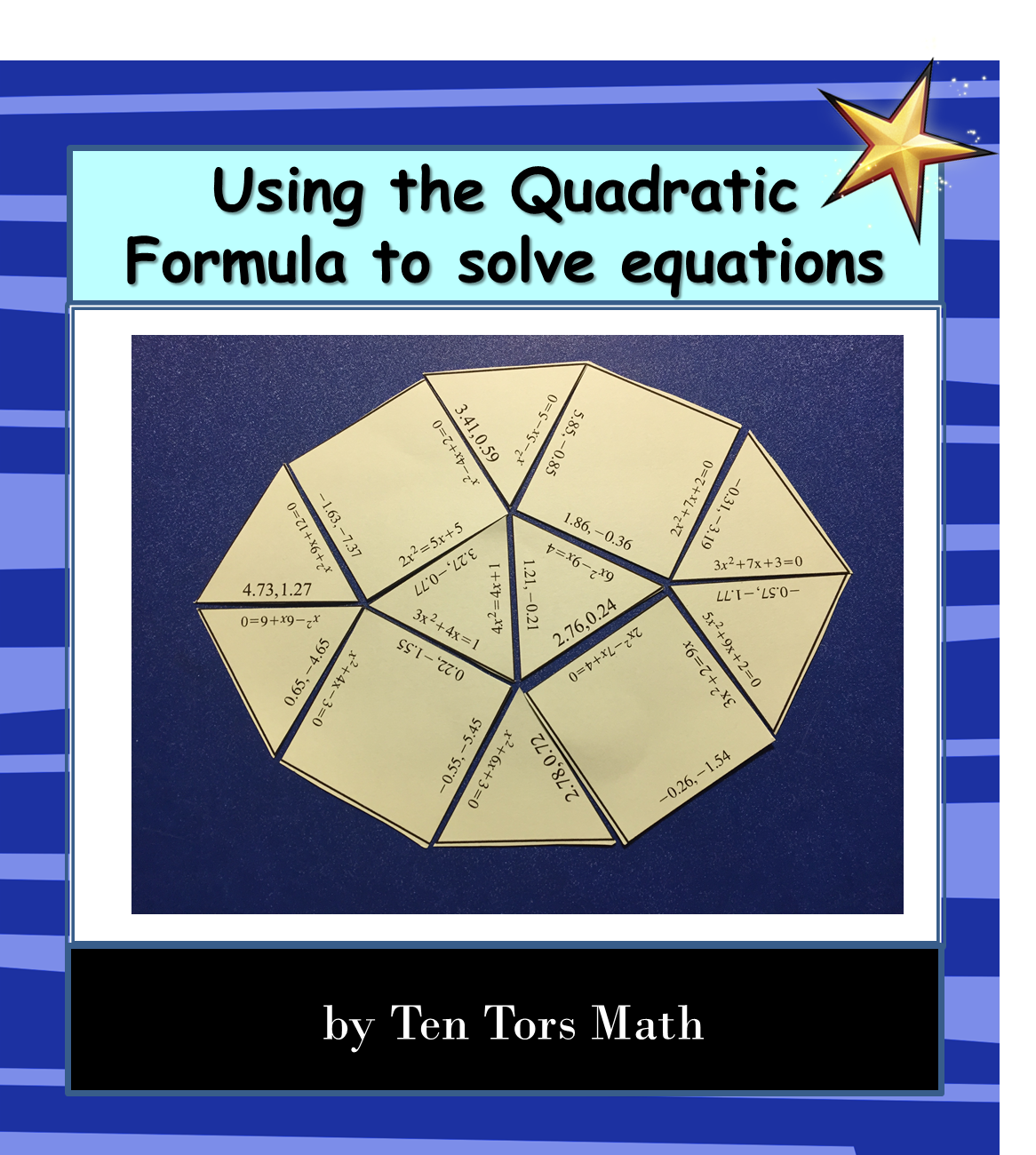 Solving Quadratic Equations Puzzle Activity Tentors Math