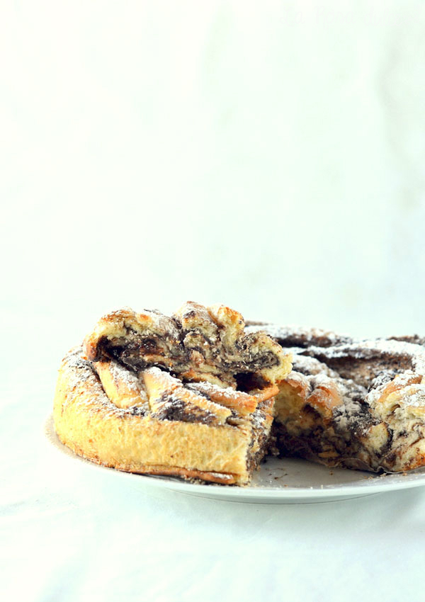 Brioche torbellino de crema de cacao sin lactosa