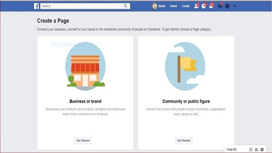 How to create a Facebook page from Computer